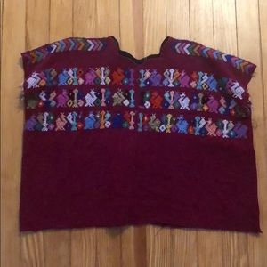 Tops - Authentic Guatemalan embroidered top